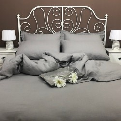 Duvet Cover Linen Atlanta Grey