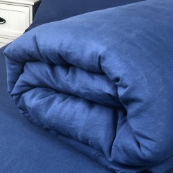 Duvet Cover Linen Atlanta Blue