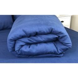Duvet Cover Linen Atlanta Blue
