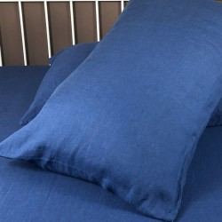 Pillowcase Classic Linen Atlanta Blue