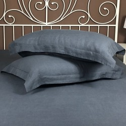 Pillowcase Oxford Linen Atlanta Charcoal