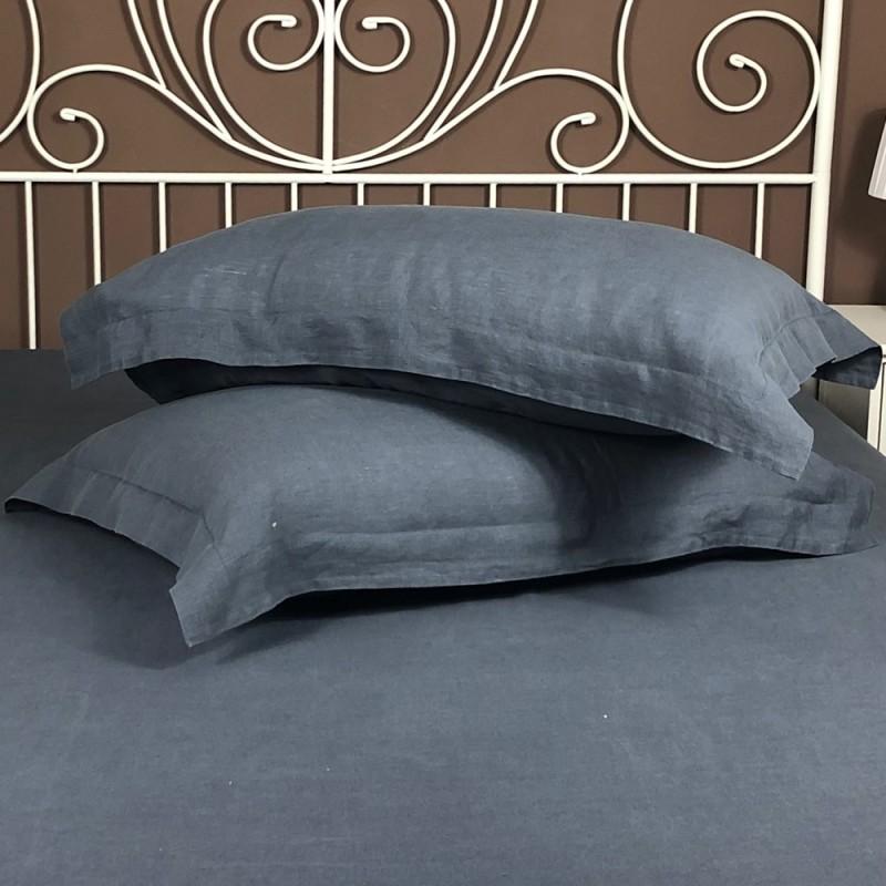 Pillowcase Oxford Linen Atlanta Charcoal