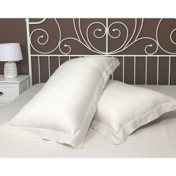 Set of Two Pillowcase Oxford Linen Atlanta Cream