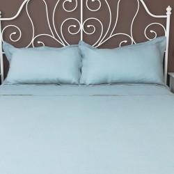 Bed View Pillowcase Oxford Linen Atlanta Slate
