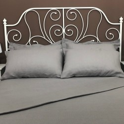 Flat Sheet Linen Atlanta Grey