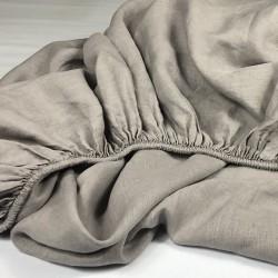 Fitted Sheet Linen Atlanta Grey