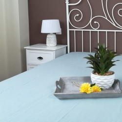 Fitted Sheet Linen Atlanta Slate Showing Tray