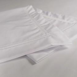 Flat sheet white trim Egyptian Cotton 200 Thread Count Percale Porto