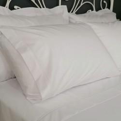 Flat sheet white trim Egyptian Cotton 200 Thread Count Percale Porto view with pillows