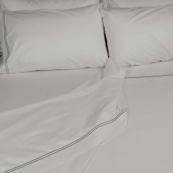 Percale Duvet Cover Egyptian Cotton 200 Thread Count Porto folded back