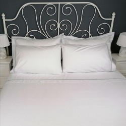 Percale Duvet Cover Egyptian Cotton 200 Thread Count Porto bed view