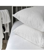 Classic pillowcases, Egyptian cotton and pure linen.